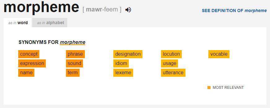 Thesaurus.com - Morpheme
